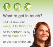 call us now on +44(0)115 9770075