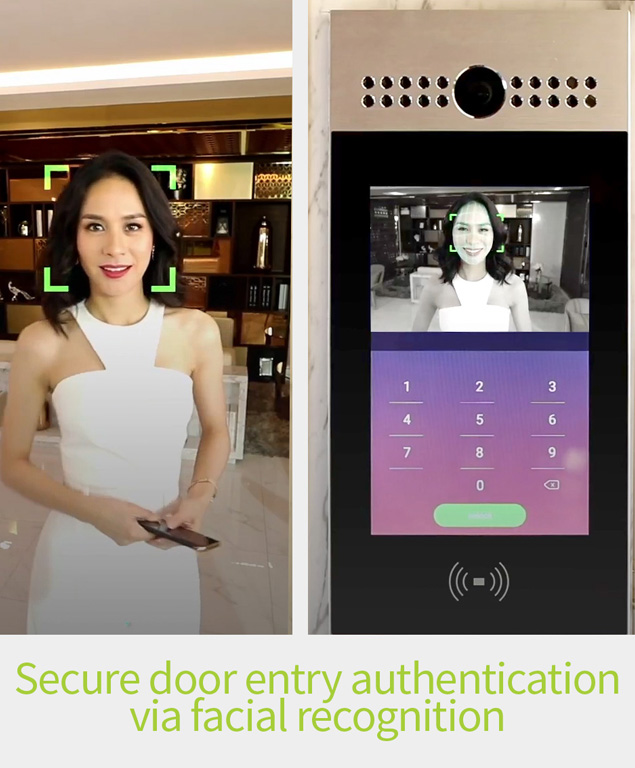 Akuvox R29C Intercom with facial recognition