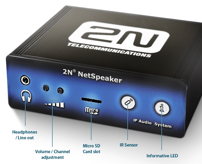 CIE AV Solutions 2N Net Audio Decoder - Audio over IP Endpoint, PoE