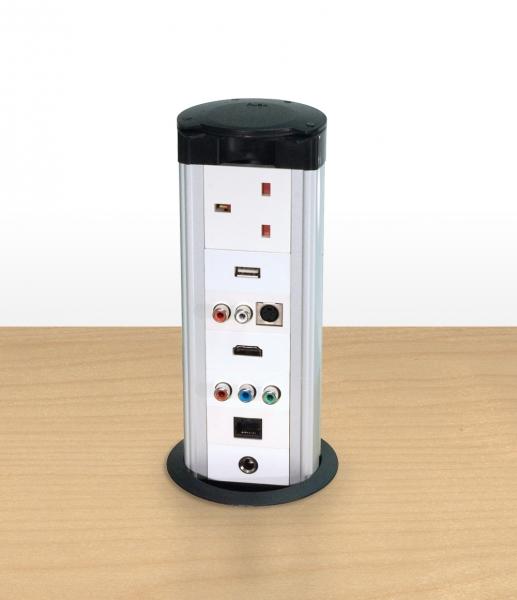 Cie Av Solutions Conec2 Conec2 Av Desk Riser Pod Housing 8 X