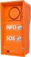IP Safety Intercom in high visibility orange - 2 buttons, 10W speaker