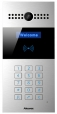 Compact IP Door Intercom Unit with Key Pad (Video & Card reader), incl. Flush Mount Backbox