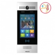 SIP Touchscreen Intercom with Dual Cameras with Face Recognition and Body Temperature Measurement, Silver