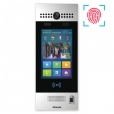 SIP Touchscreen Intercom with Dual Cameras with Face Recognition and Fingerprint Reader, Silver