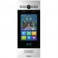 SIP Touchscreen Intercom with Dual Cameras, QR Code, Card Reader and secure Facial Recognition, Silver