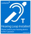 Fixed Hearing Loop Installed Adhesive Sign