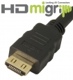 MIGRIP Friction Locking 1.4 HDMI Cable, M/M - 0.5m
