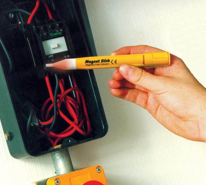 Magnetic Field Tester : Cie av solutions sagab non contact magnet tester yellow