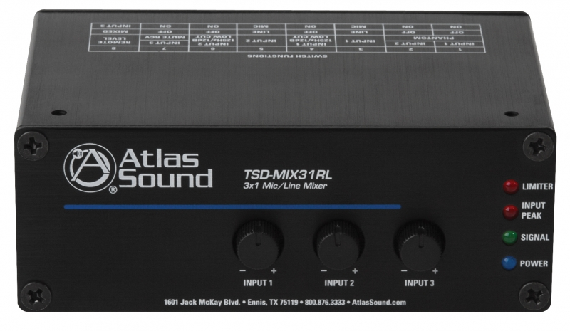 Cie Av Solutions Tsd Pre Amp Mixer 3x Mic Line Input 1x